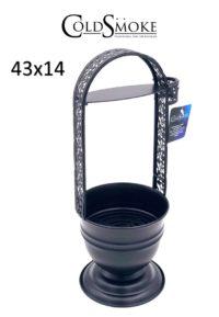 Foto de producto de la marca Cold Smoke, es el modelo de Carbonera Cold Black 43x14 Cm.