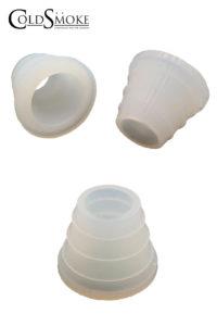 Foto de producto de la marca Cold Smoke, es el modelo de Conector Cazoleta Silicona Blanco Estriado