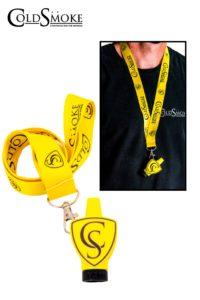 Foto de producto de la marca Cold Smoke, es el modelo de Boquilla CS Yellow + Lanyard Classic CS