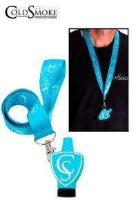 Foto de producto de la marca Cold Smoke, es el modelo de Boquilla CS Light Blue + Lanyard Classic CS