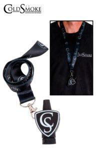 Foto de producto de la marca Cold Smoke, es el modelo de Boquilla CS Black + Lanyard Classic CS