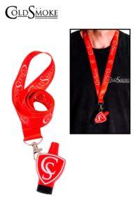 Foto de producto de la marca Cold Smoke, es el modelo de Boquilla CS Red + Lanyard Classic CS