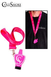 Foto de producto de la marca Cold Smoke, es el modelo de Boquilla CS Pink + Lanyard Classic CS