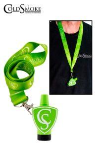 Foto de producto de la marca Cold Smoke, es el modelo de Boquilla CS Green + Lanyard Classic CS