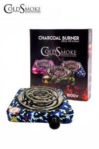 Foto de producto de la marca Cold Smoke, es el modelo de HORNILLO PLATO 1000w. CAMOUFLAGE BLUE