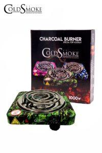 Foto de producto de la marca Cold Smoke, es el modelo de HORNILLO PLATO 1000w. CAMOUFLAGE GREEN