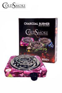 Foto de producto de la marca Cold Smoke, es el modelo de HORNILLO PLATO 1000w. CAMOUFLAGE PINK