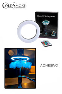 Foto de producto de la marca Cold Smoke, es el modelo de ARO DE LED PLATO ADHESIVO